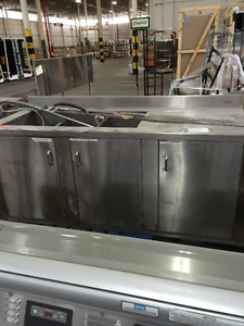 3 Compartment Stainless Steel Sink with Cabinet