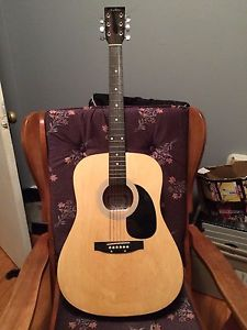 Academy D-2 Guitar with case and stand
