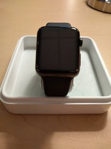 Apple Watch - 42mm Black Stainless w/ Sapphire Crystal