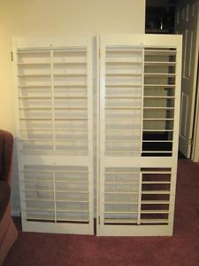 BAY WINDOW SHUTTERS 2 SETS - INDOOR - $55. EA. SET