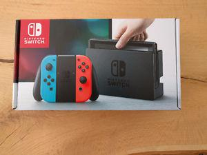 BRAND NEW NINTENDO SWITCH NEON RED AND BLUE
