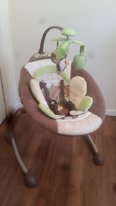 Baby swing and bath seat for sale 75 for both
