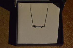 Ben Moss Silver Arrow Necklace 16 pts of diamonds