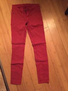 Blank NYC premium denim skinny red jeans size 25