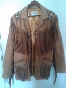Boar suede Fringed Leather jacket size 42