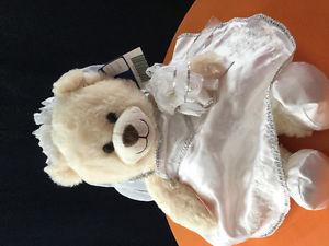 Build A Bear in Wedding Dress, New with Tags