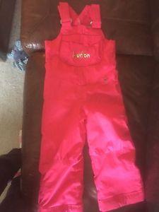 Burton girls snow pants 4T.
