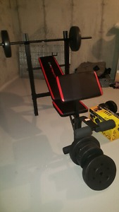 CAP strength weight bench and dumbell set