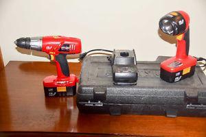 "Craftsman 19.2 volt 3/8"" cordless drill set"