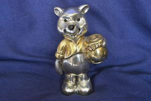D'Argenta silver figure Winnie The Pooh with gold plate