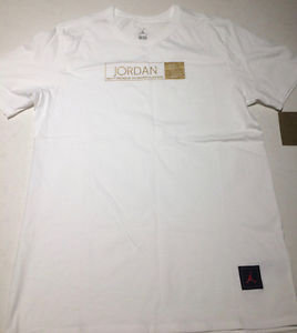 Drake OVO Jordan 12 T Shirt White/Gold Sz. LG SOLD OUT