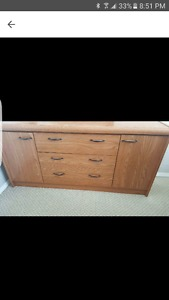 Dresser, mirror and two night stands (Reduced)