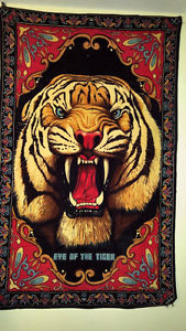 EYE OF THE TIGER ViNTAGE RUG. WAS IN STORAGE MADE IN INDIA