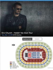 Eric Church 4 tickets