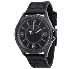 Fossil Recruiter FS Men's Black Leather Strap watch