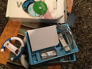 Free Wii System with 5 games -needs power cable & sensor bar
