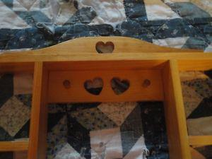 Handmade Shadow Box w/ Heart Cut Outs New Reduced