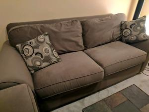 Hunter green microfibre couch and love seat!