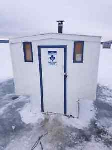 Ice Fishing Shack and Trailer