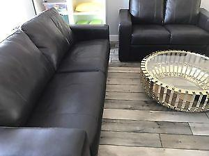 LEATHER SOFA LOVESEAT AND CLUB CHAIR 3 PIECE NEW OVER HALF