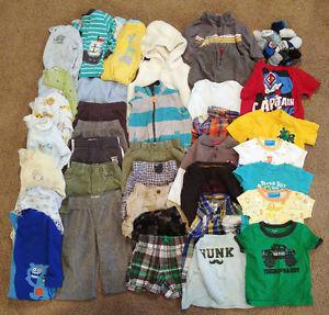 Lot of 9-12 month baby boy clothing- 48+ items