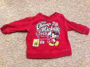 Mickey long sleeve shirt (12 months)