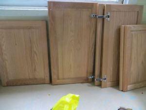 New oak cupboard doors