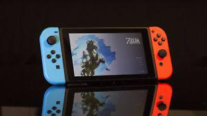 Nintendo Switch Console with Zelda game