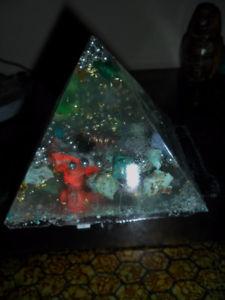 """Orgonite """"Special Ocean - Sea"""" Healing Crystals Pyramid"""