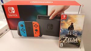 Sealed Brand New Nintendo switch + Legend Of Zelda: BOTW