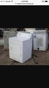 $ for unused/broken washers and dryers