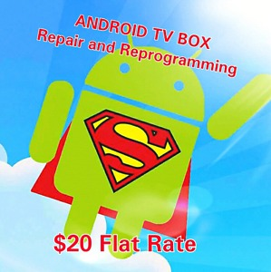 ANDROID TV BOX REPAIR and REPROGRAMMING
