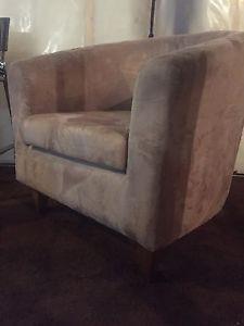 Beige club chair
