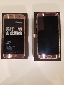 Brand New unlocked Samsung S7 or S7 Edge LTE Dual SIM Pink