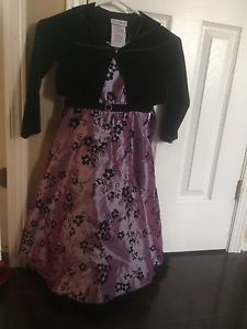 Fancy girls dress with short jacket size 6