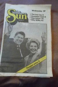 First Edition of The Winnipeg Sun