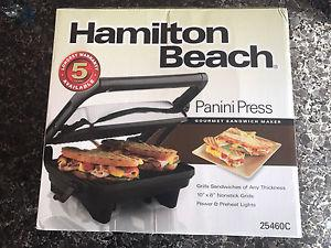 brand new starfrit panini press posot class. Black Bedroom Furniture Sets. Home Design Ideas