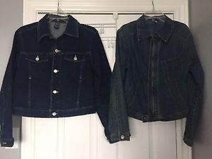 Ladies denim jackets in excellent condition two for $10