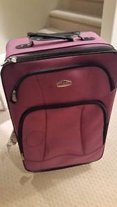 Like new used once Luggag Cambridge Brand Purple Color Good