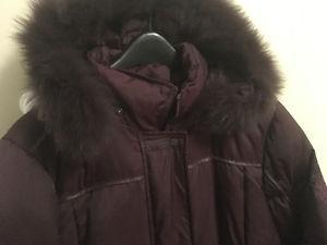 Manteau long en duvet d'oie