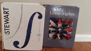 Math textbooks (Calculus, Linear Algebra) SFU