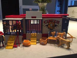 Retro Playmobil Circus lot