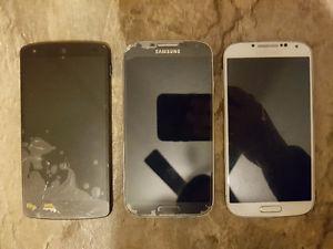SAMSUNG GALAXY S4 & LG NEXUS 5
