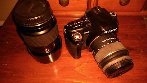 Sony A500 Digital Camera with Two Lenses