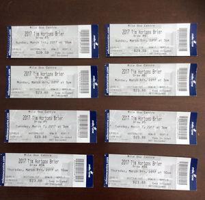 Tim Horton,s Brier Tickets