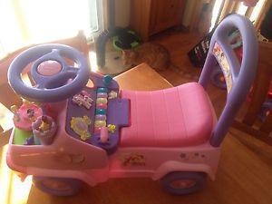 Toddler disney princess car