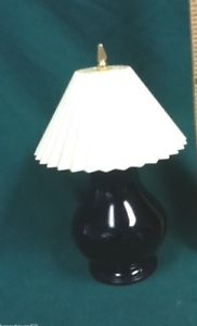 Vintage Avon Blue Mini Lamp