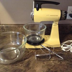 Vintage yellow Sunbeam stand mixer