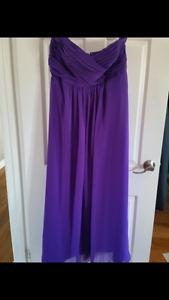 Violet bridesmaid dress