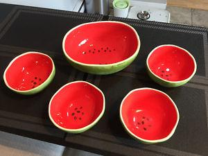 Watermelon Serving Bowl Set